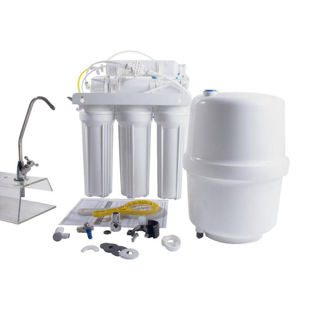 6-Stage Under-Sink Reverse Osmosis Water Filtration System with Alkaline