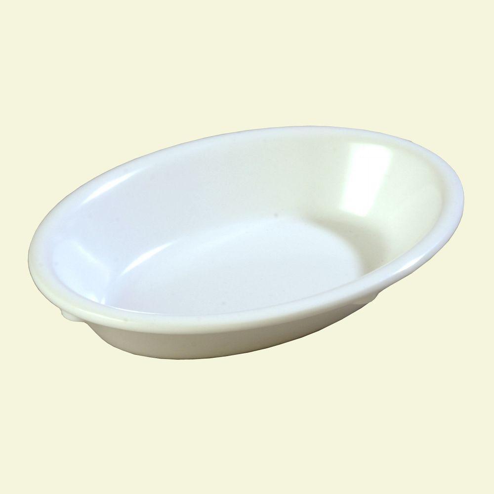 Carlisle 6.5 oz., 6.0 in. L Oval Dessert Bowl in White (Case of 48)