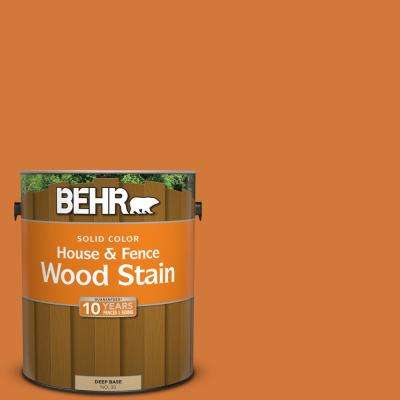 1 gal. #T17-19 Fired Up Solid Color House and Fence Exterior Wood Stain
