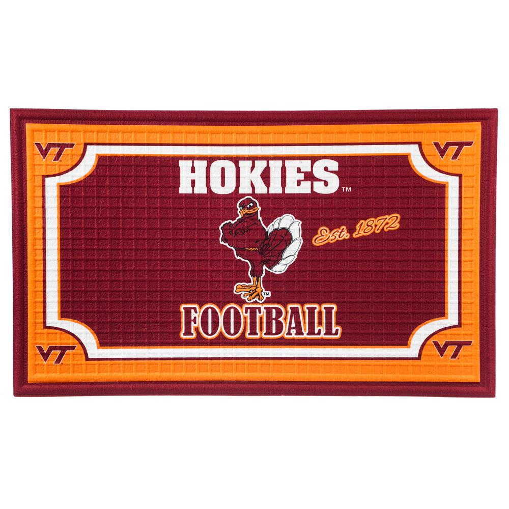 Evergreen Virginia Tech 18 In. X 30 In. Embossed Welcome Mat