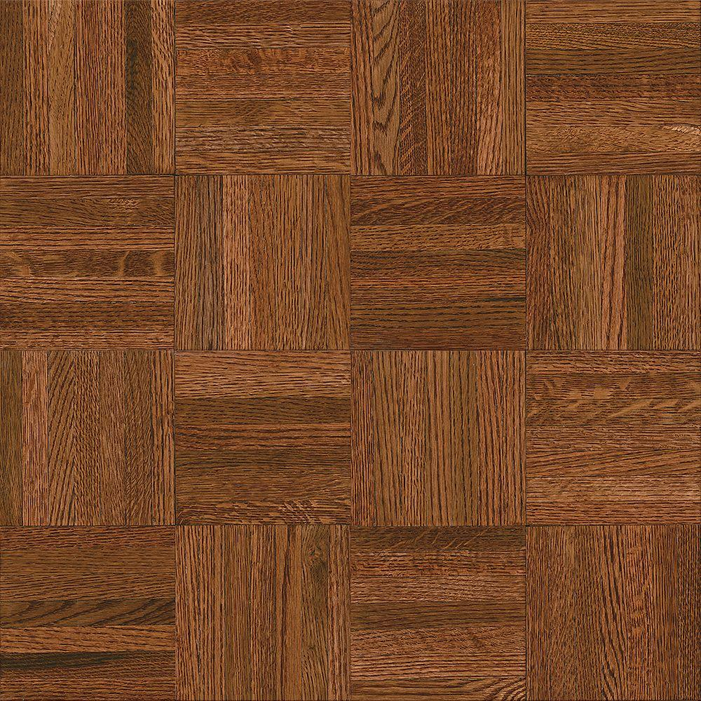 bruce natural oak parquet cherry 5 16 in thick x 12 in