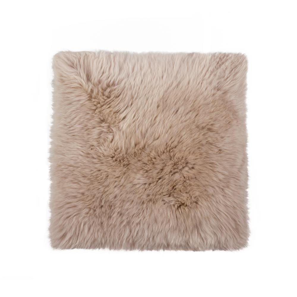 Incroyable New Zealand Taupe Sheepskin Chair Pad