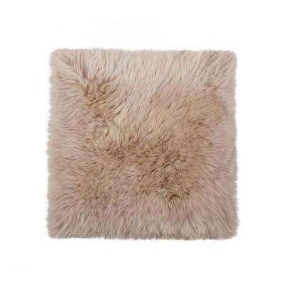 New Zealand Taupe Sheepskin Chair Pad