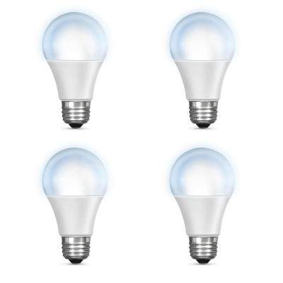 60-Watt Equivalent Daylight (5000K) A19 Dimmable Wi-Fi LED Smart Light Bulb (4-Pack)