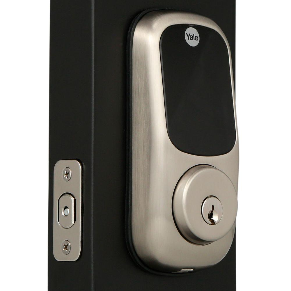 Yale Real Living Touch Screen Satin Nickel Deadbolt 084012