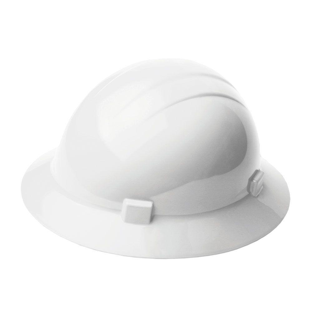 Americana 4 Point Nylon Suspension Slide-Lock Full Brim Hard Hat in