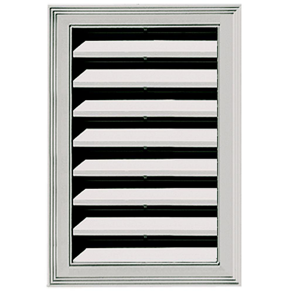 Builders Edge 12 in. x 18 in. Replacement Gable Vent #030 Paintable