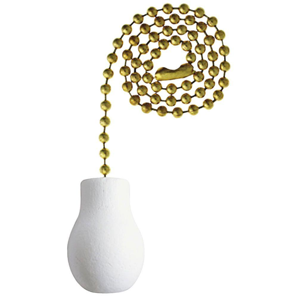 Westinghouse White Wooden Knob Pull Chain 7701400 The