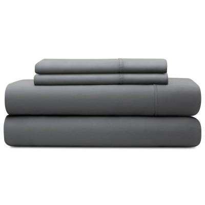 4-Piece Slate Tencel California King Sheet Set