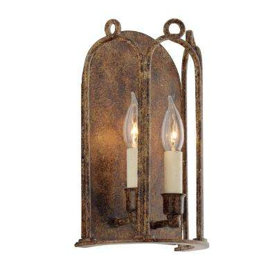 Carousel 2-Light Provence Bronze Wall Mount Sconce