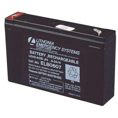 ELB 0607 6-Volt Emergency Replacement Battery