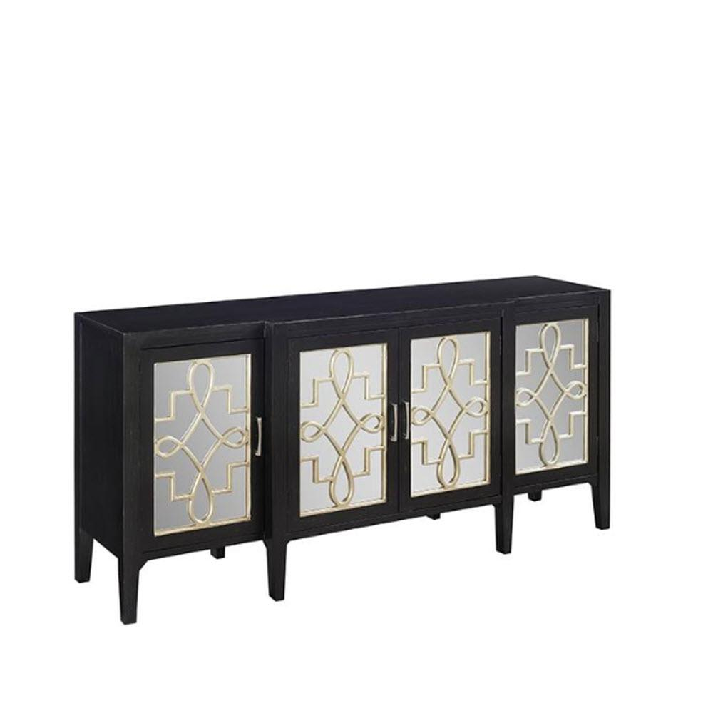 Mirrored Cabinet: Clover Black Mirrored Cabinet-9671800210