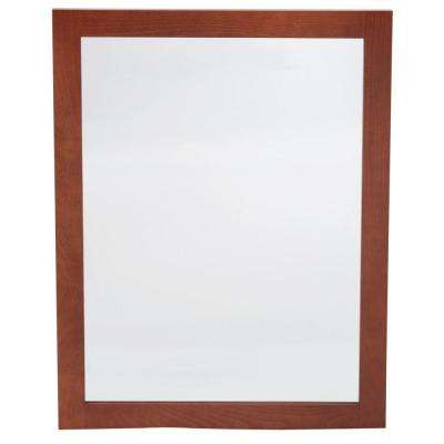 Artisan 24 in. x 31 in. Framed Vanity Mirror in Chestnut