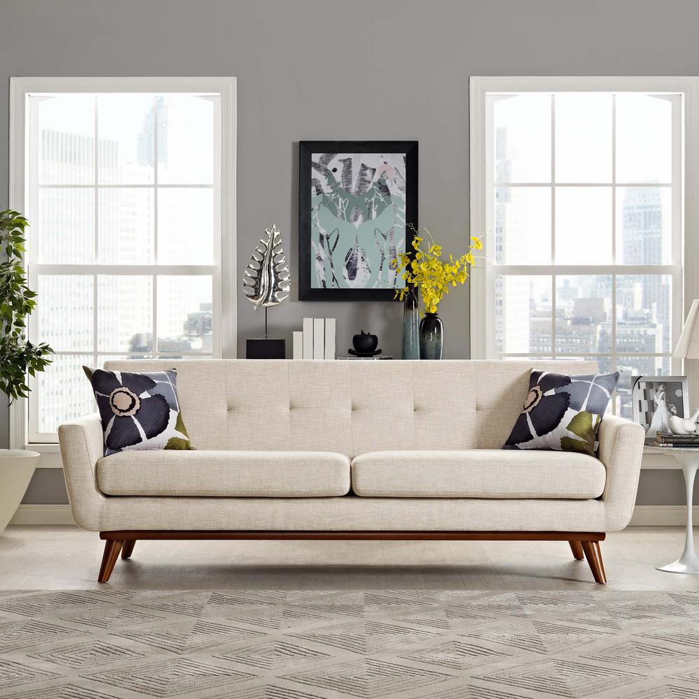 Modway Engage Beige Upholstered Fabric Sofa Eei 1180 Bei The Home