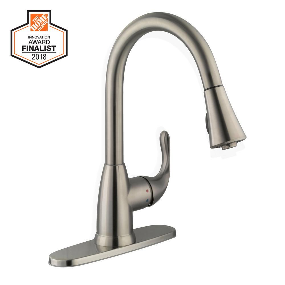 Faucet Stainless Steel Single Handle Mounted Light Weight Rust Resistant Durable