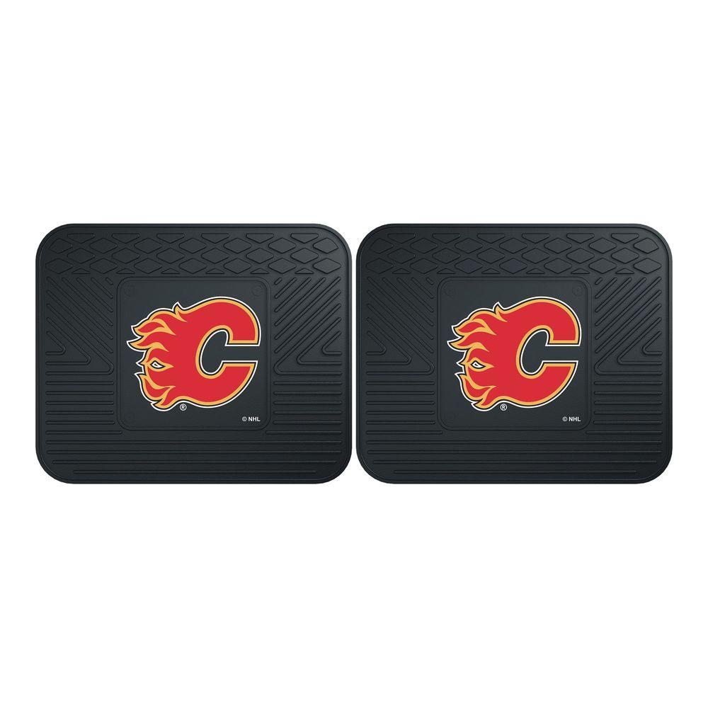 Fanmats Nhl Calgary Flames Black Heavy Duty 14 In X 17 In