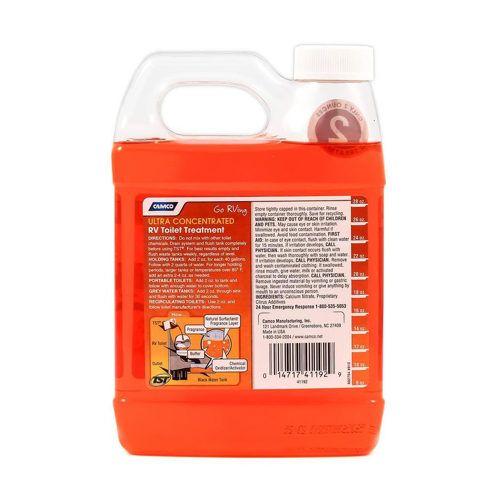 Camco Tst 32 Oz Orange Power Rv Toilet Treatment 41192 The Home Depot