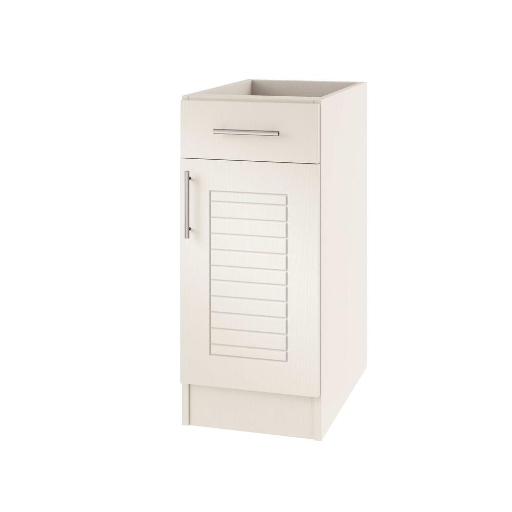 Assembled 15x34.5x24 in. Key West Open Back Outdoor Kitchen Base Cabinet
