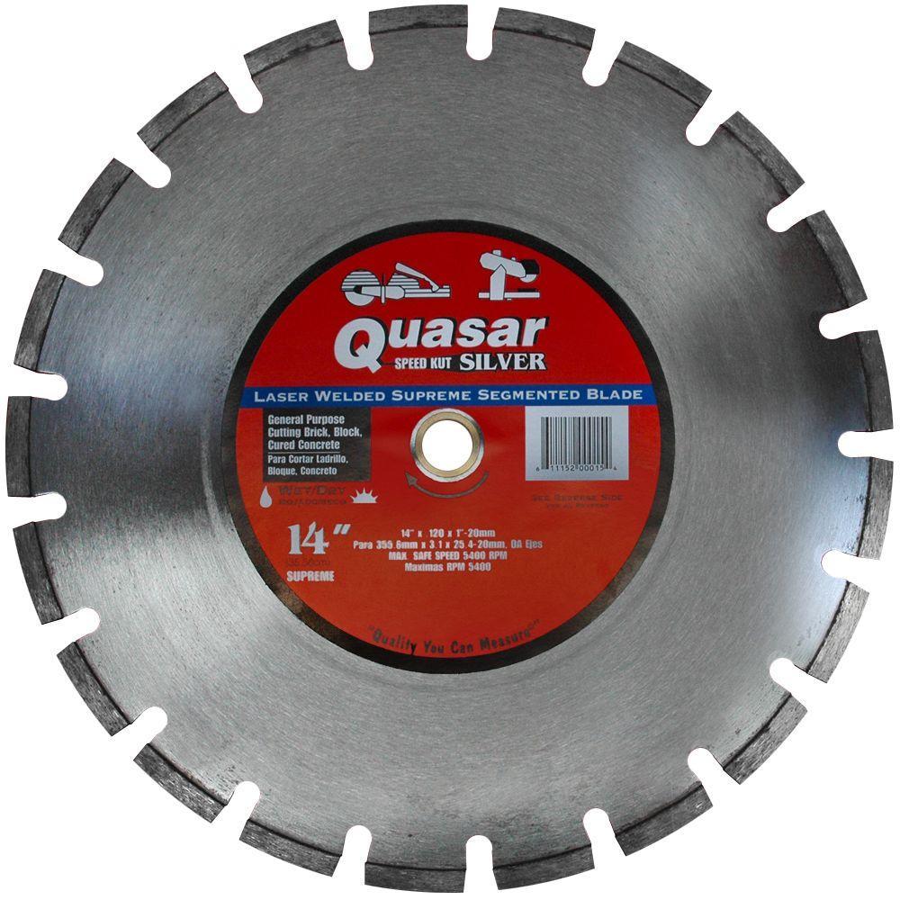 Speed Kut 100 Silver 14 in. Laser-Welded Supreme Segmented Diamond Blade
