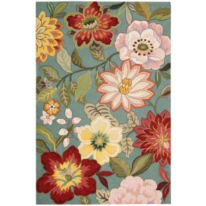 Nourison Spring Blossoms Aqua 1 ft. 9 inch x 2 ft. 9 inch Accent Rug by Nourison