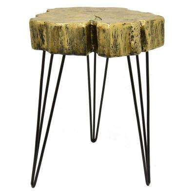 25.5 in. Gold Accent Table
