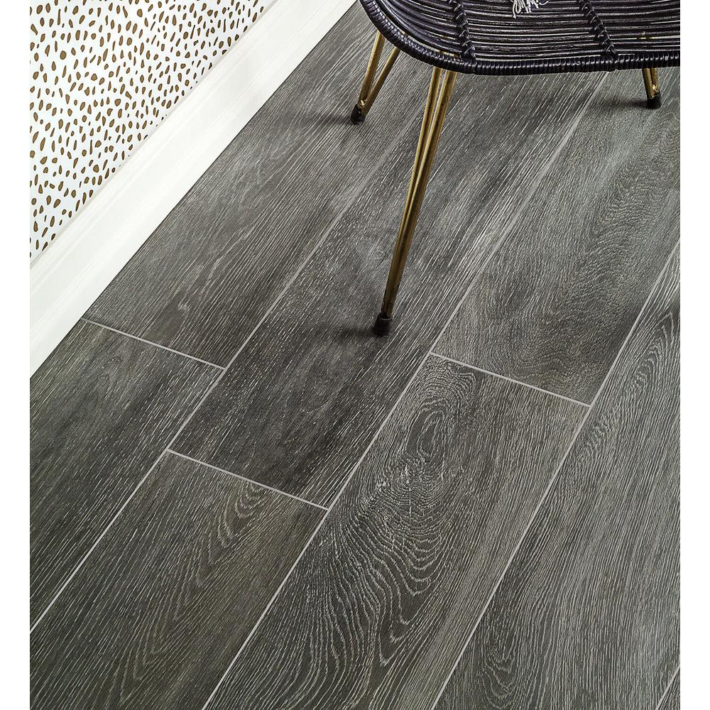 Ivy Hill Tile Helena Dark Gray 8 In X