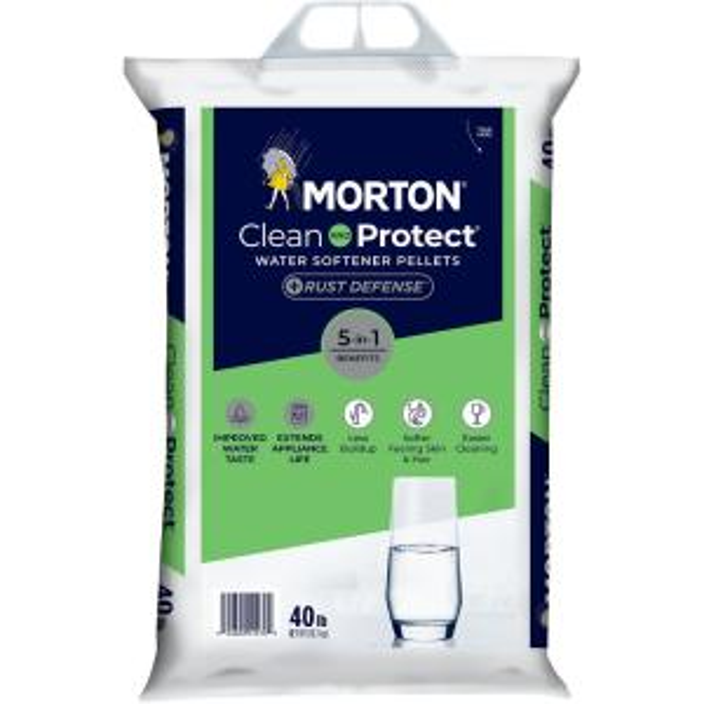 Morton Clean and Protect Plus Rust Defense Water Softener Pellets (40 lb.)