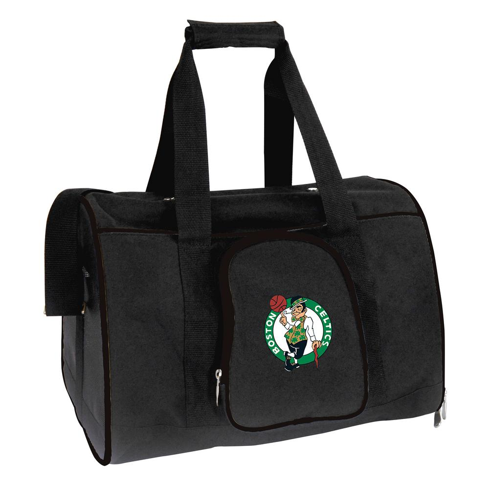NBA Boston Celtics Pet Carrier Premium 16 in. Bag in Black