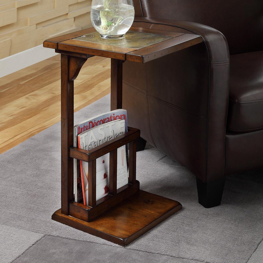 HomeSullivan Dark Oak Finish End Table
