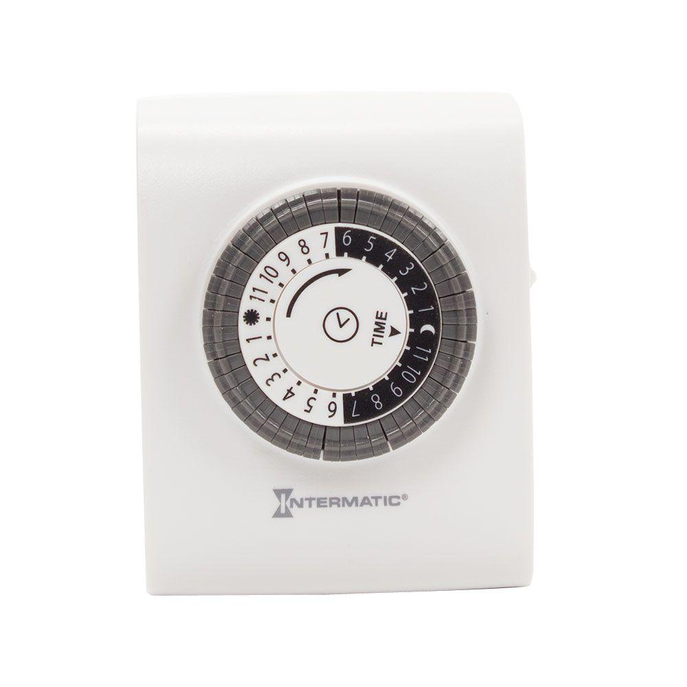 Intermatic 15 Amp Plug In 2 Outlet Basic Timer White