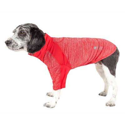 Large Red Active Chewitt Wagassy Performance Long Sleeve Dog T-Shirt