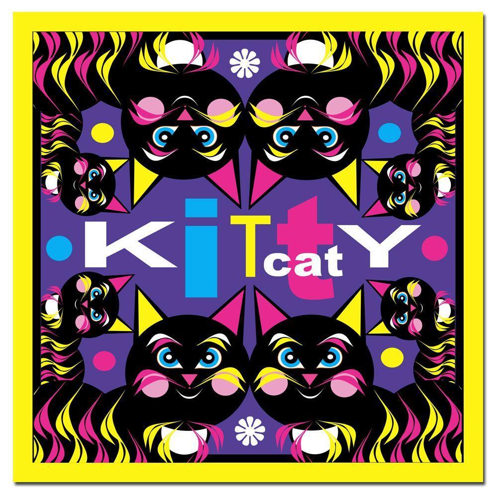 24 in. x 24 in. Kitty Cat Canvas Art