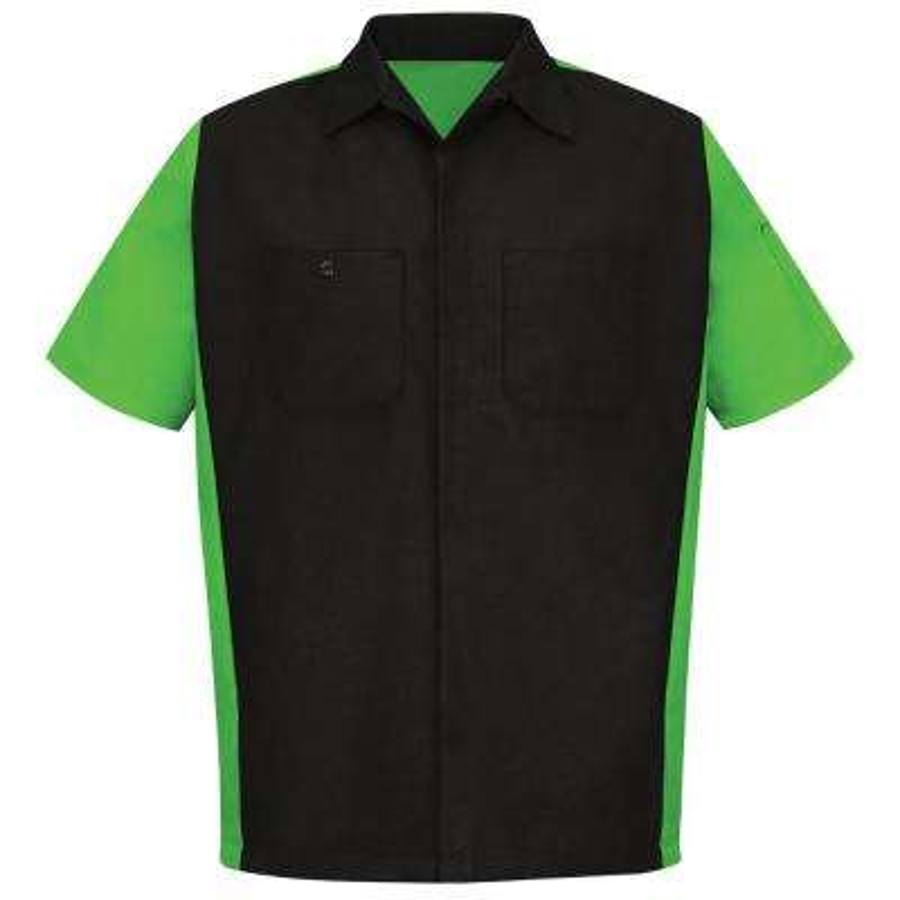 Men's X-Large Black/Lime Crew Shirt