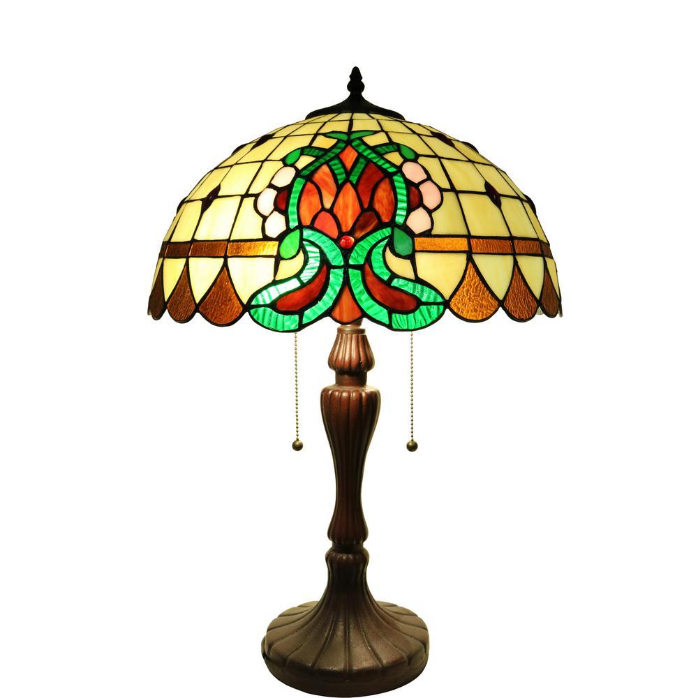 Janamint 24 in. Bronze Tiffany-Style Lamp