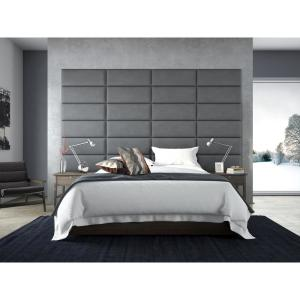 best loved 2b5a4 b4e13 Micro Suede Charcoal Grey Queen-Full Upholstered Headboards/Accent Wall  Panels