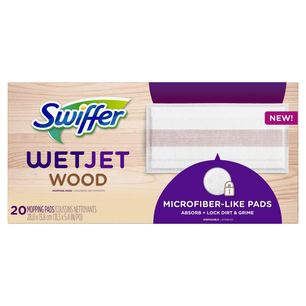 1dc573e55c1 Swiffer WetJet Wood Mopping Pads (20-Count)-003700076563 - The Home ...