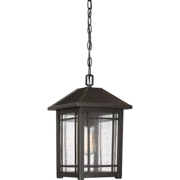 Cedar Point 1-Light Bronze Outdoor Pendant Light