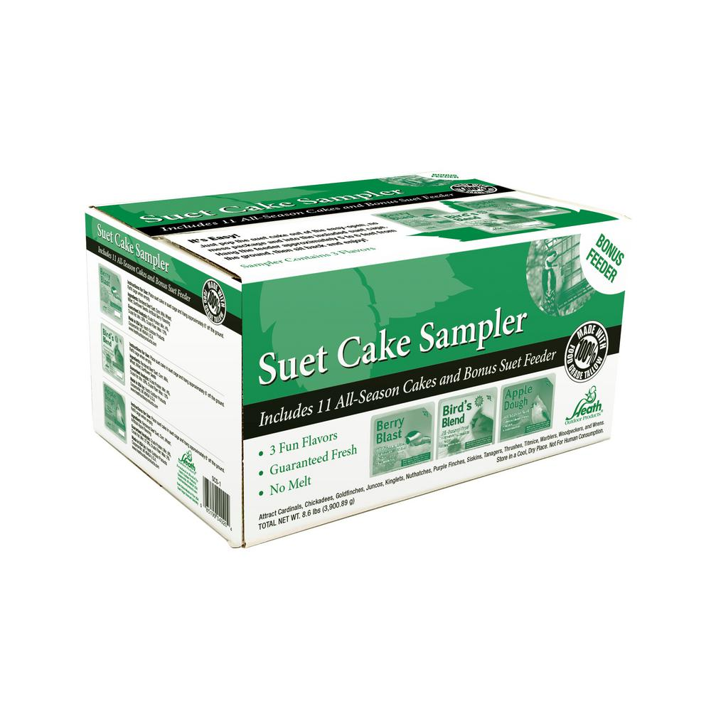 Heath Suet Cake Sampler Pack with Cage