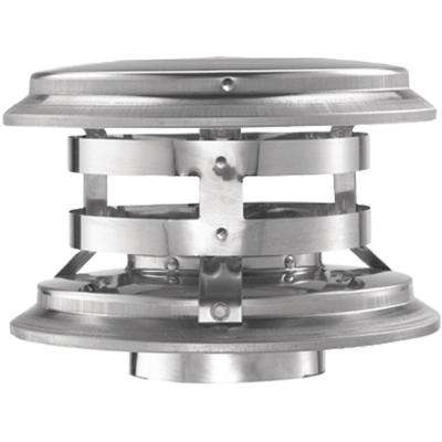 PelletVent 4 in. Fixed Vertical Chimney Cap