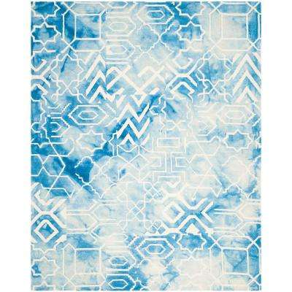 Dip Dye Blue/Ivory 8 ft. x 10 ft. Area Rug