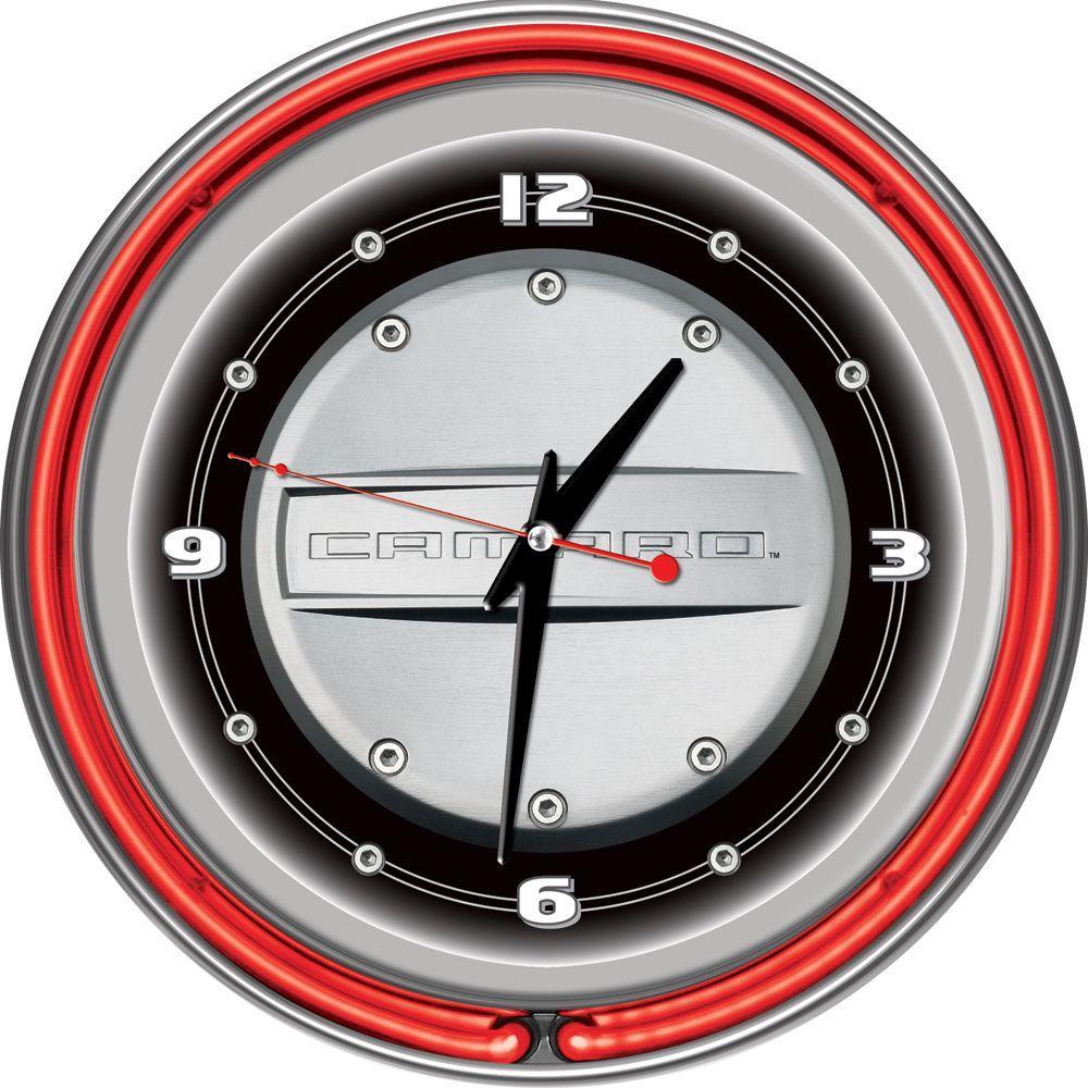 Trademark 14 in. Camaro Neon Wall Clock
