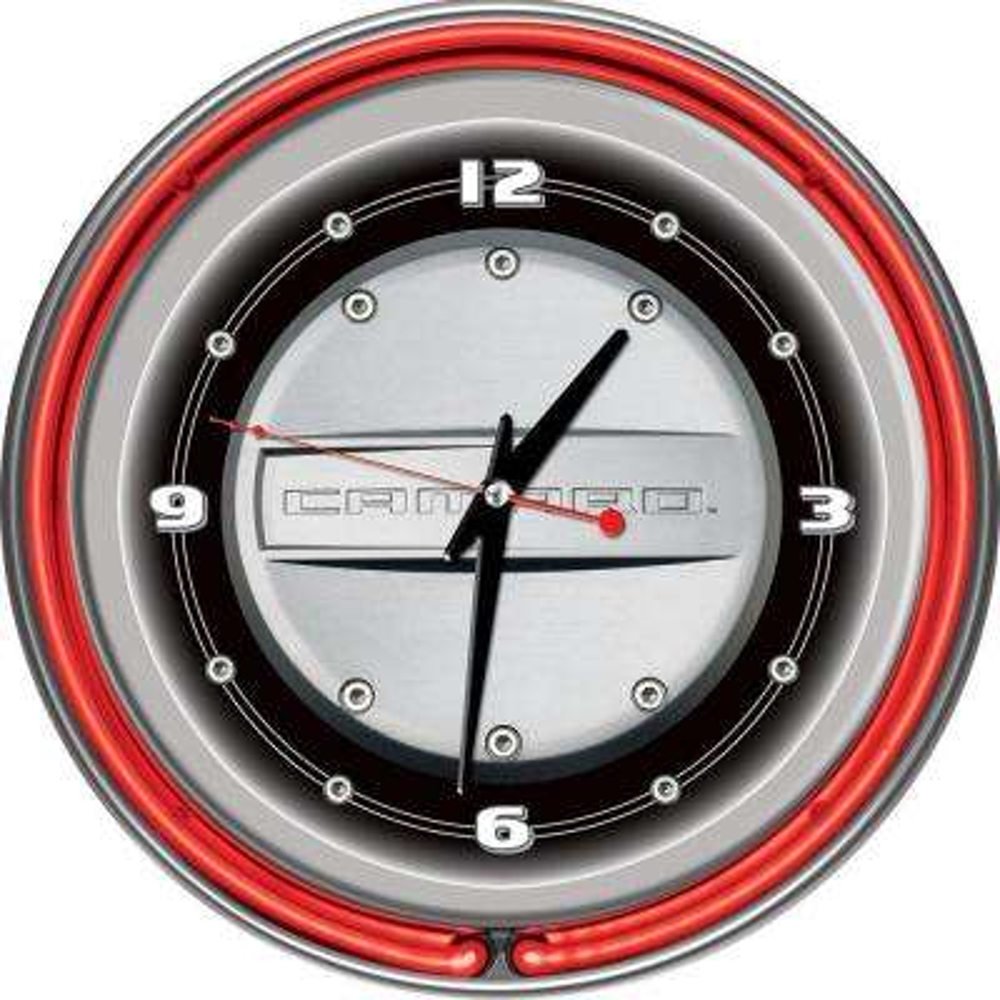 14 in. Camaro Neon Wall Clock