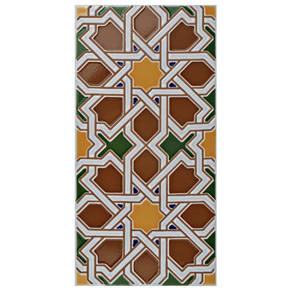Artesanal Mairena Brown 5-1/2 in. x 11 in. Ceramic Wall Tile