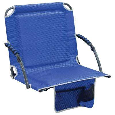 Bleacher Boss Pal Blue Folding Stadium Seat with Padded Armrests