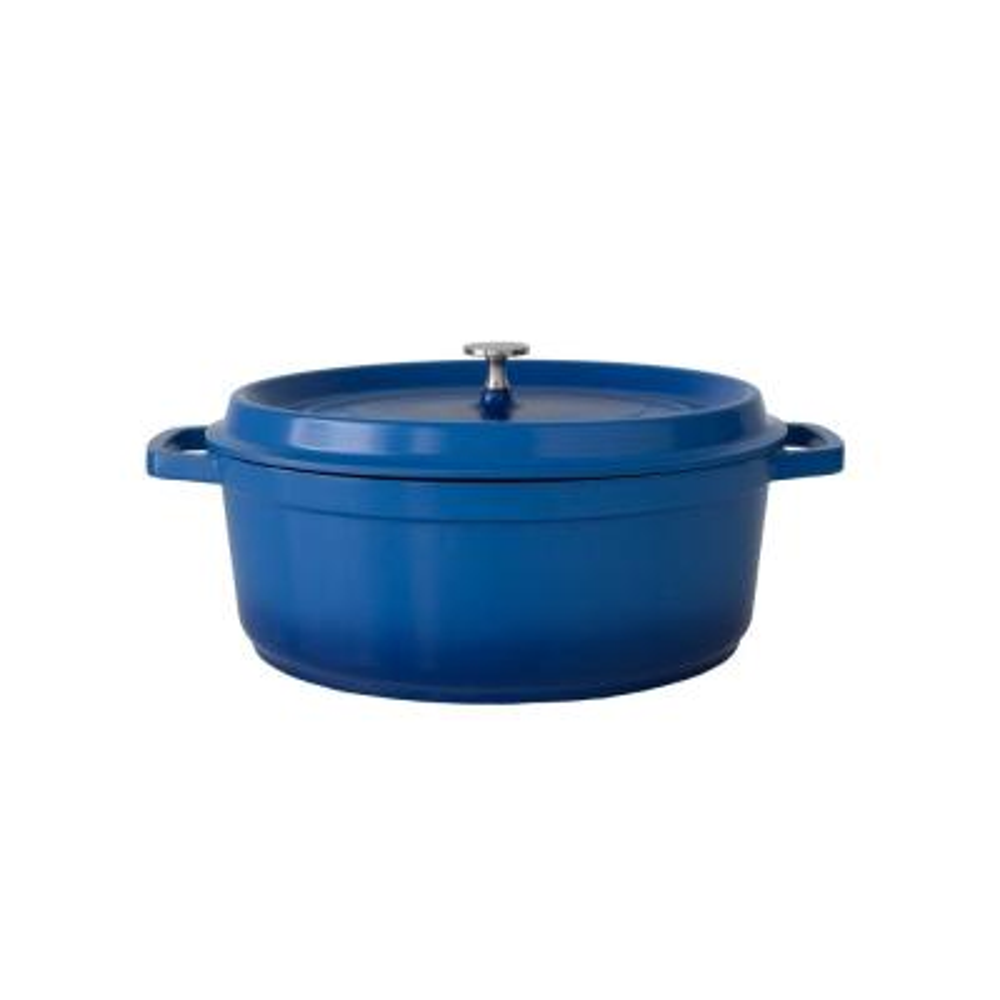6.63 Qt. Blue Oval Induction-Ready Cast Aluminum Dutch Oven