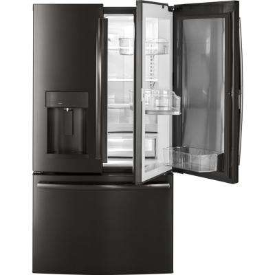 27.8 cu. ft. French Door Refrigerator with Door In Door in Black Stainless Steel