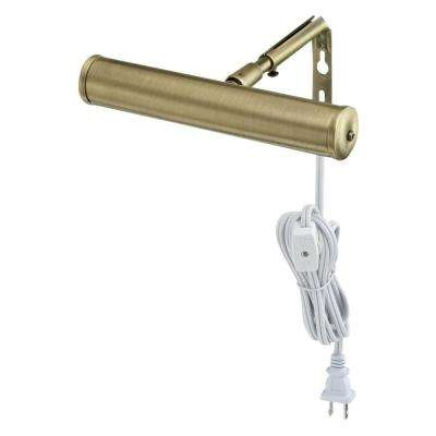 7 in. Antique Brass Slimline Picture Light