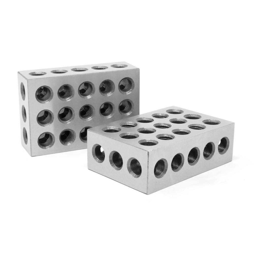 3 in. x 2 in. x 1 in. Steel-Hardened Precision 1-2-3-Gauge Blocks (2-Pack)