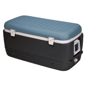 maxcold 100 qt cooler with retractable handles and splitlid