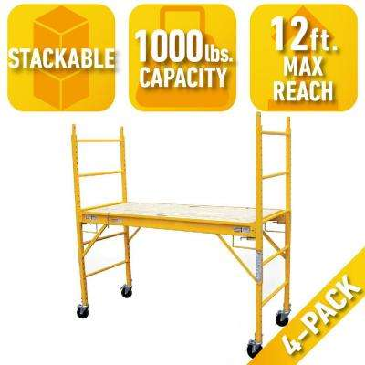 6 ft. x 6 ft. x 29 in. Multi-Use Drywall Baker Scaffolding with 1000 lbs. Load Capacity (4-Pack)